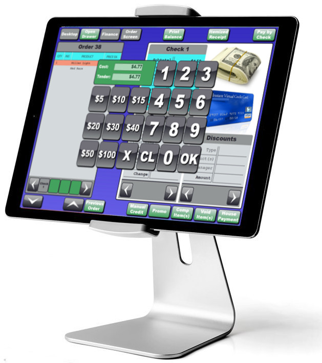 All White Tablet Bar Restaurant Pos System Blackfish Pos
