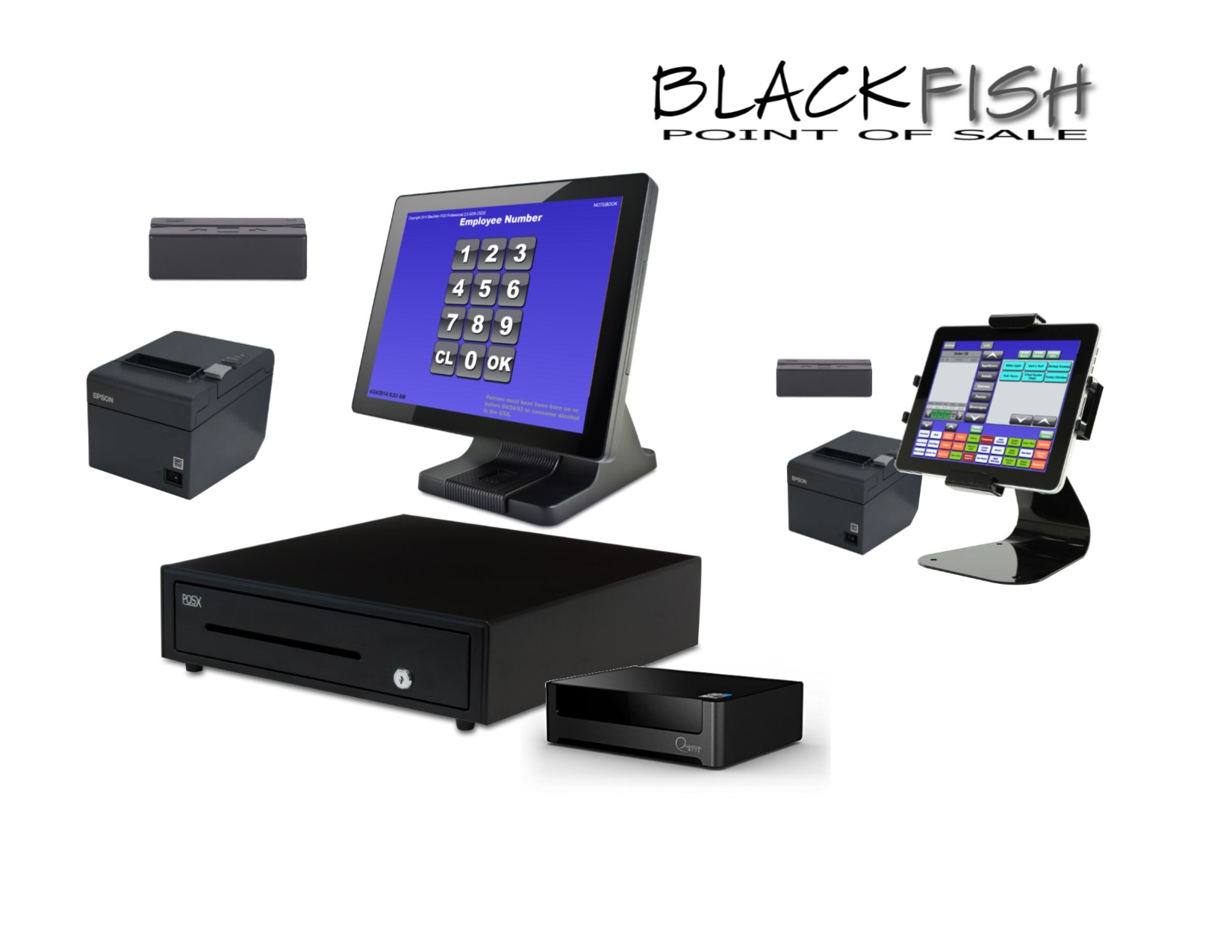 2 Station Blackfish Pos System With Tablet