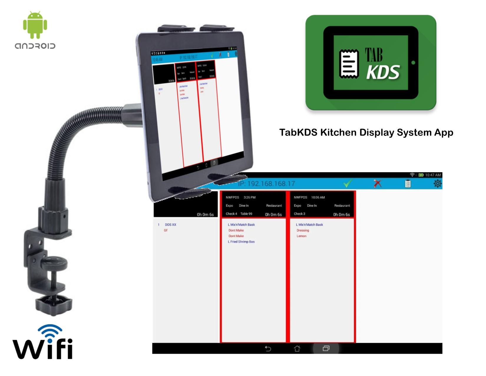 TabKDS Kitchen Display Tablet System - Blackfish POS